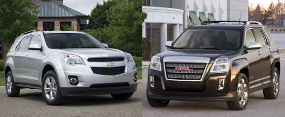 gmc terrain vs chevrolet equinox what is the difference to the average oshawa consumer. Black Bedroom Furniture Sets. Home Design Ideas