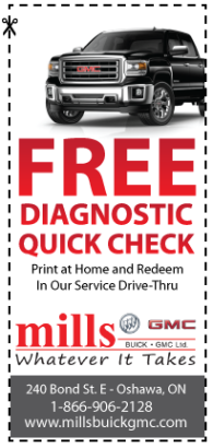 Free Diagnostic Check at Mills Motors - Oshawa, Ontario