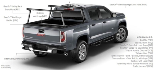 2015 GMC Canyon Bed Accessories and Trailering